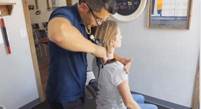 Dr. Oscar Noriega DC uses chiropractic tool to get relief from Headache