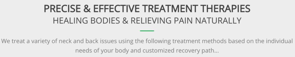 precise and effective treatment - revolution health center