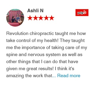 Ashli Yelp Reivew - Revolution Health Center