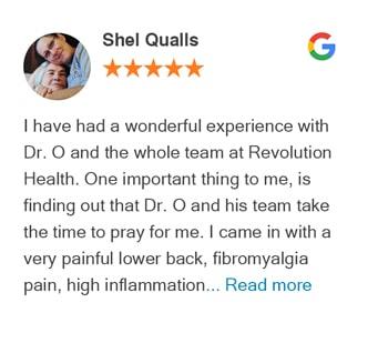 Google Review Shel Qualls - Revolution Helath Center