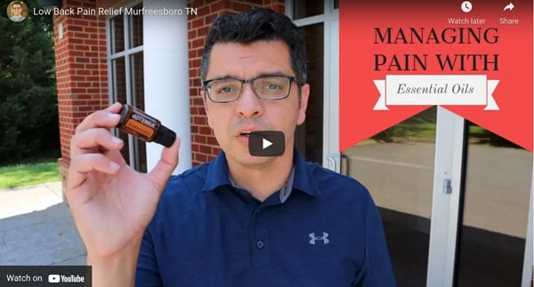 Managing pain with essential oil explained at Revolution Health Center