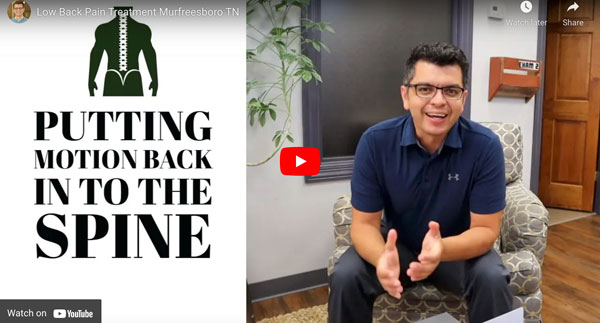 Putting motion back into the spine explained at Revolution Health Center